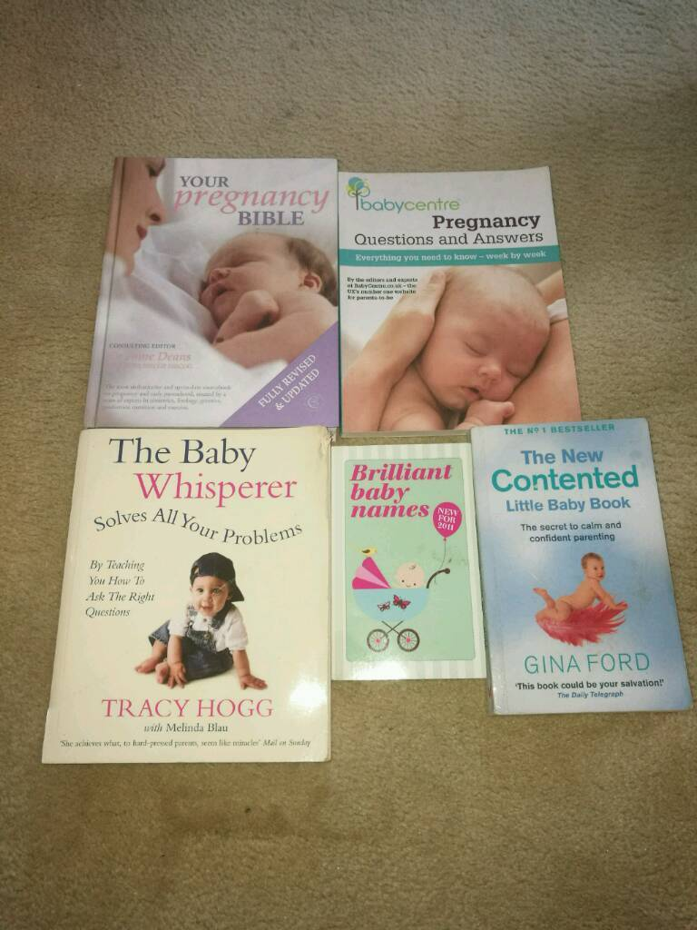Baby names and pregnancy books