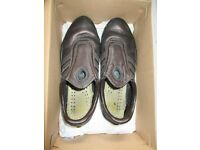 ADIDAS BROWN GOLD TRAINERS SIZE 4