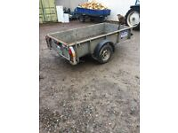 Ifor Williams GD84 trailer single axle braked 1.4tonne capacity