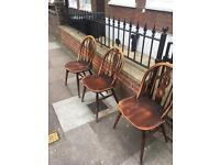 3 vintage chairs