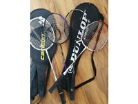 Badminton rackets x4