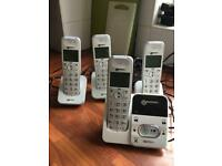 Geemarc amplified cordless phones with answering machine.