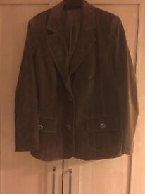 Plus size Evans/Essence real suede tan jacket 20