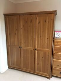 Ikea Bedroom furniture set - wardrobe, drawers/baby change, tall unit, bedside table/unit