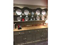 6' hand painted kitchen dresser