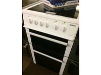 BEKO FAN ASSISTED 50CM DOUBLE OVEN ELECTRIC COOKER6964