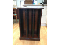MAHOGANY CD RACK IN SUPERB CONDITION