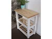 Handmade Solid Wood Butchers Block / Kitchen Island Trolley