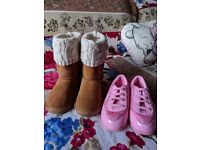 Baby girl boots and shoes size c7