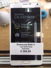 Samsung Galaxy Note 4,Unlocked,Brand New,With Warranty