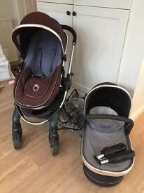I-Candy Peach carrycot and pushchair bundle