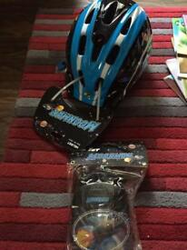 Kids helmet and knee pads Brand new