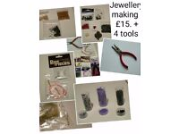 Jewellery making stuff with 4 new tiols