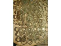 Assortment of decorative glass jars for weddings/parties