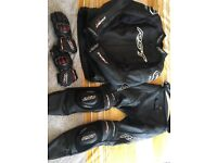 Rst 2 piece leathers rst gloves tractech evo