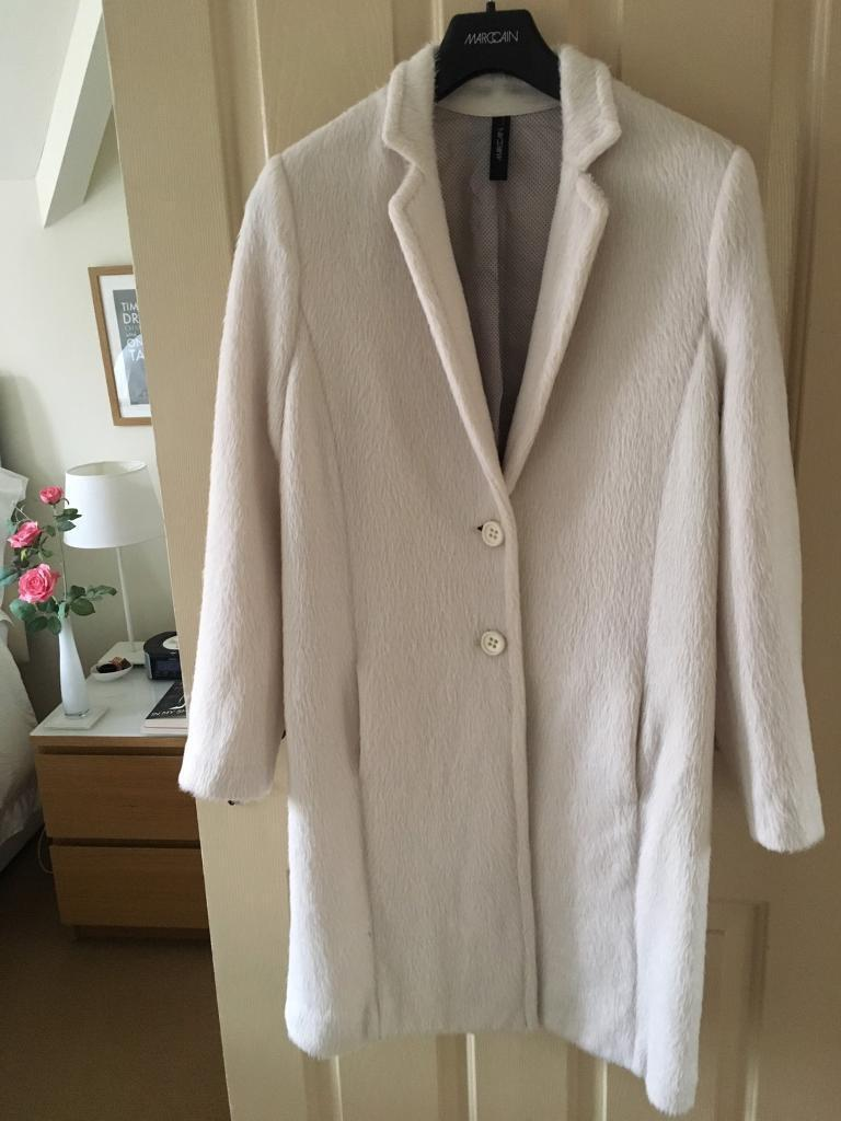 Stunningly soft, winter white fur, Marc Cain coat. Size 14, worn once.