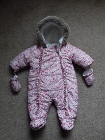 Baby Girl Snowsuit 0-3 months