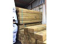 New timber railway sleepers