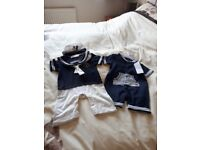 Baby Boy Sailer Outfits x 2 - NEW