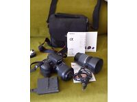 Sony Alpha 200 Camera and accessories