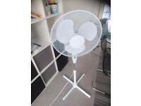 "Daewoo 16"" Electric Oscillating Floor Standing Pedestal Cooling Fan"