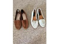 Genuine leather Faith and Dune loafers size 4