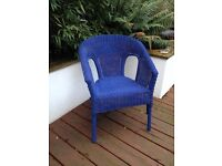 Here comes the sun....Gorgeous Blue Wicker Chair