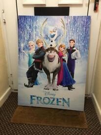Large frozen canvas & curtains
