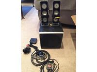Logitech Z-4 computer speaker surround system with wireless controller
