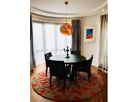 Round Domo Dining Table with 4 Chairs by Camerich