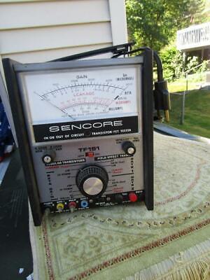 Sencore Tf 151 Transistor Fet Tester Wmanual Powers Up