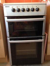 beko silver grey electric cooker hob oven