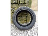 Dunlop Sportmaxx TT run flat tyre, 225/45/R17 91w part worn 4mm tread left on it