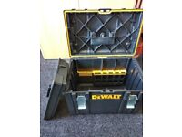 TWO Dewalt DS400 Toolboxes With Tote trays and Organiser Insert