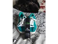 Puma Suedes Mint Green/ Cream White ladies size 5