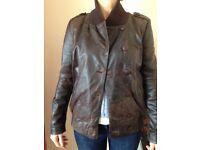 Leather jacket new size 10