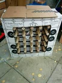 New John Lewis 42 bottle wine rack