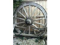Wooden cart wheel (large)