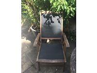 x 3 wooden garden chairs