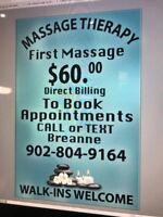 Registered Massage Therapist $60.00