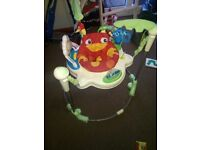 Jumperoo working lights and noises. Brilliant condition. 3 height settings.