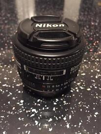 Nikon Nikkor 50mm f/1.4 prime AF D