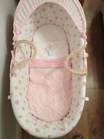 Ex Mothercare Little/Daisy Lane Moses Basket