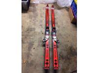 Antique skis blizzard
