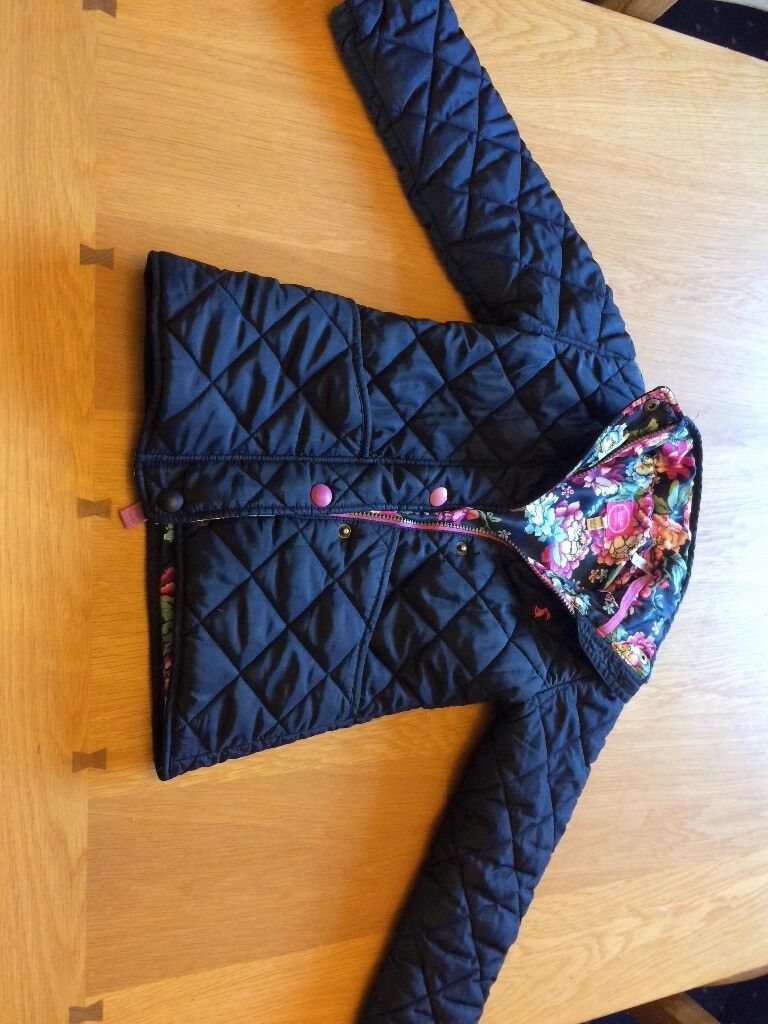 Beautiful girls joules quilted coat