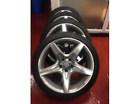 "18"" 2015 GENUINE MERCEDES SLK AMG ALLOYS WITH CONTINENTAL TYRES"