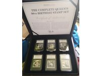 The Complete Queen's 90th birthday Stamp Set