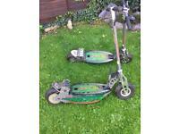 2 x Bladez electric scooters