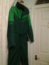 Ladies Green Ski Suit