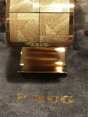 KRUG CHAMPAGNE NAPKIN RINGS GOLD COLOR EXTREMELY RARE IMPOSSIBLE TO FIND QTY. 6  (Champagne Gold Color)